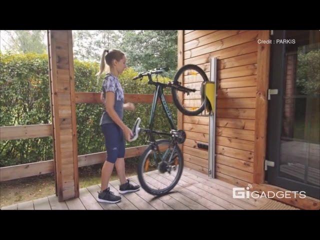 effortless vertical bike parking system
