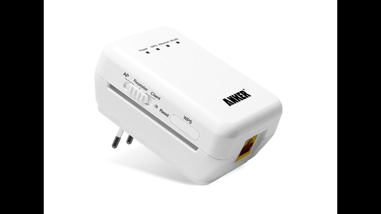 Anker Wireless-N WiFi Repeater WLAN Verstärker\
