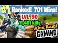 #1 World Ranked - 709 Wins - 11,611 Kills - Level 92