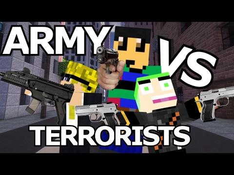 ARMY vs TERRORISTS in MINETOPIA!