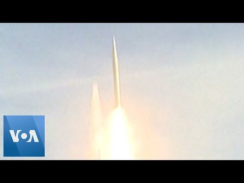 US Air Force Test Medium Range Ballistic Missile Over Pacific Ocean