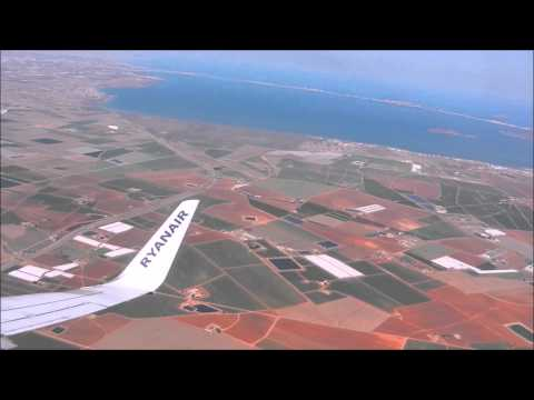 Murcia San Javier scenic approach and landing .STEADY.