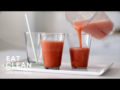 Strawberry Grapefruit Smoothie Eat Clean with Shira Bocar