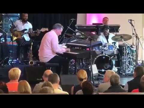 Alex Bugnon with Harvey Mason at Mallorca Smooth Jazz Fest 2017