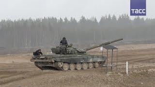 Контрольные стрельбы из танков Т 72Б3 и Т 90А в Ленинградской области
