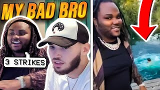 Tee Grizzley THROWS Adin Ross in a LAKE for being SUS...