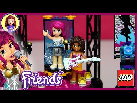 Lego Friends Pop Star Show Stage Set Unboxing Building Review - Kids Toys