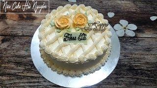 Bánh Sinh Nhật Trang Trí Nhẹ Nhàng Và Tinh Tế - Simple Birthday Cake Decoration