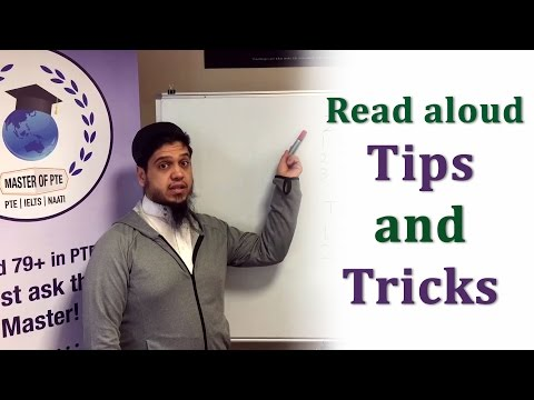 PTE - Read Aloud Practice, Tips and Tricks
