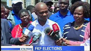 FKF presidents present his papers to the FKF electoral board for re - election