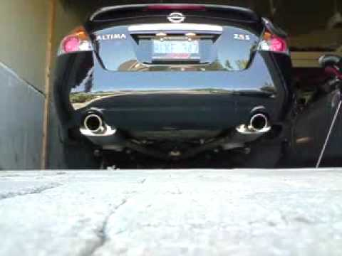 08u0027 Altima 2.5 W/ Custom Magnaflow CatBack Exhaust And High Performance  Resonator   YouTube