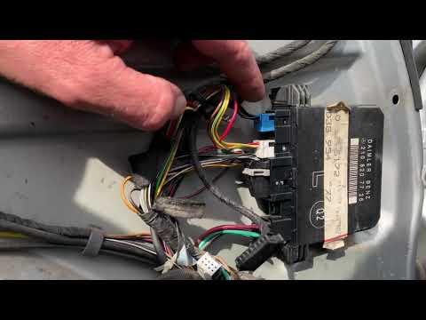Неисправности,проблема -Электро-регулировки сидения МЕРСЕДЕС W210,прописка стеклоподъемника(ч2