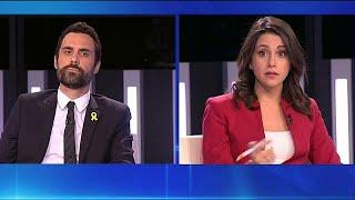 Independentistas y no independentistas cruzan acusaciones en el primer debate del 21D