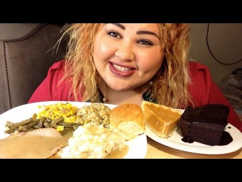 EAT THANKSGIVING DINNER WITH ME / MUKBANG | EATING SHOW