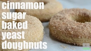Cinnamon Sugar Baked Yeast Doughnuts (vegan & Gluten-free) Something Vegan