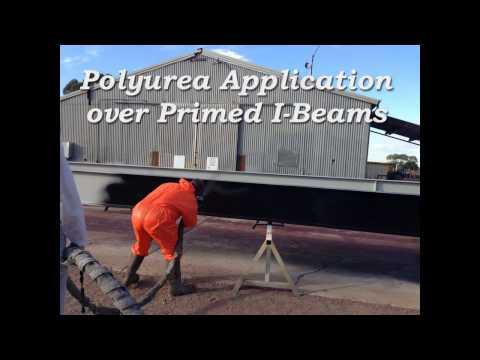 Polyurea Spraying of Steel I-Beams