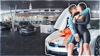 SURPRISING MY BOYFRIEND WITH HIS DREAM CAR!!! **NEW BMW I8**