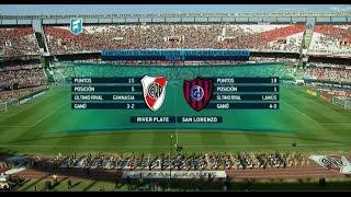 Fútbol en vivo. River - San Lorenzo. Fecha 8. Torneo de Primera División 2015. FPT.