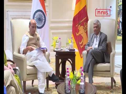 Rajnath, Sushma Meet Sri Lanka PM Ranil Wickremesinghe, Discuss Peace