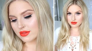 Perfect Spring or Summer Makeup! ♡ Freckles, Bold Lips, Bright Eyes!