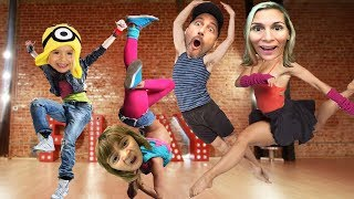 We signed up for DANCE CLASSES.  (Kids YouTube Channel Fun!)