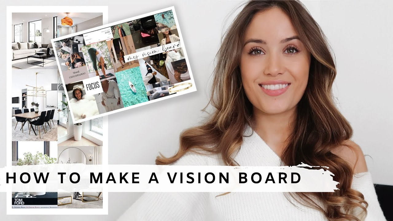 HOW TO MAKE A VISION BOARD W/ THE LAW OF ATTRACTION | Kate Hutchins