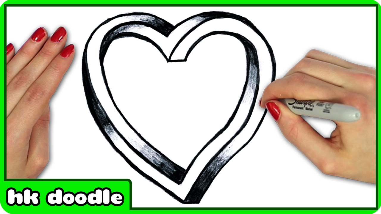 How To Draw An Impossible Heart - Step by Step Drawing ...