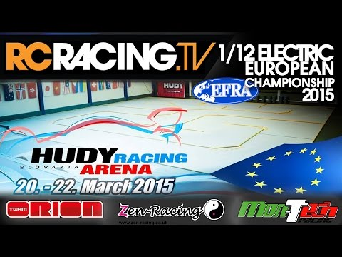EFRA 1/12th Track Euros 2015 - Sunday the Finals  - LIVE!!