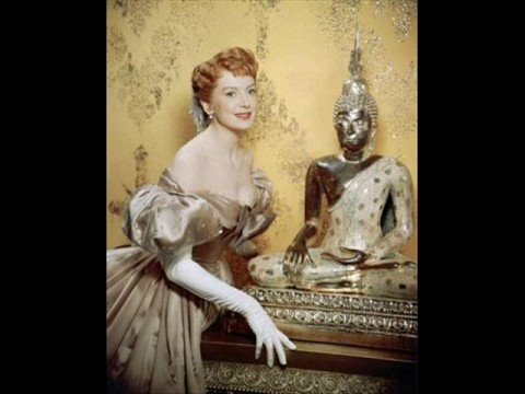 "Deborah Kerr, the ideal teacher in ""The King and I"""