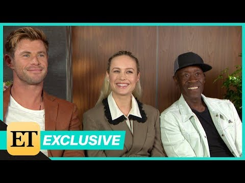 Avengers: Endgame: Chris Hemsworth, Brie Larson and Don Cheadle (FULL INTERVIEW)