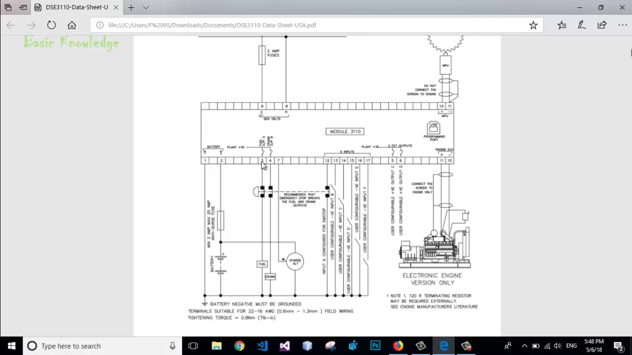 Deep Sea 3110 Typical Wiring Diagram Connection Basic Knowledge Generator Control Deepsea3110 Deepsea