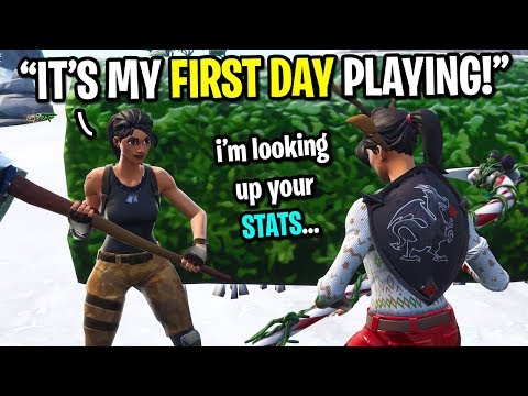 I met the biggest FAKE NOOB on Fortnite... (HE LIED TO ME 10