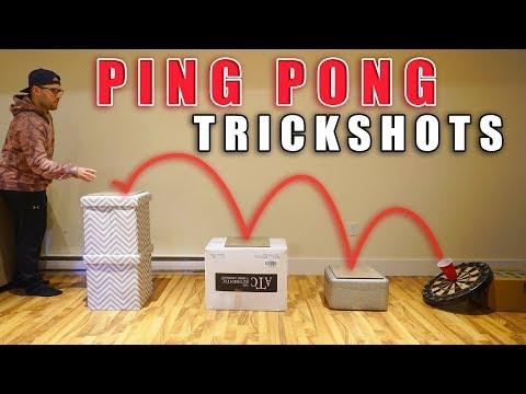Ping Pong Trick Shots | SweetSpotSquad