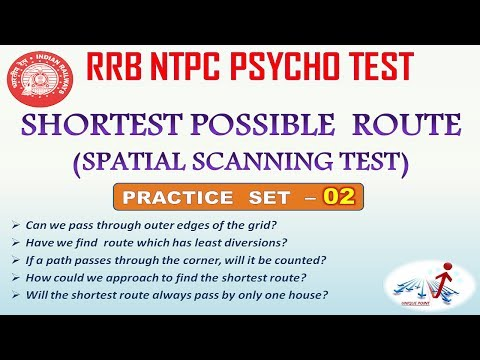 SHORTEST POSSIBLE ROUTE (with Handling All Doubts) PRACTICE SET - 02 || SPATIAL SCANNING TEST