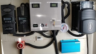 OUTBACK FX3048MT OFF-GRID SOLAR INVERTER DRAWING 32A FROM MY 48 VOLT BATTERY BANK By jwsolarusa