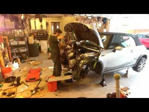 Time lapse  Clutch replacement MINI Cooper S 2005 Convertible R52