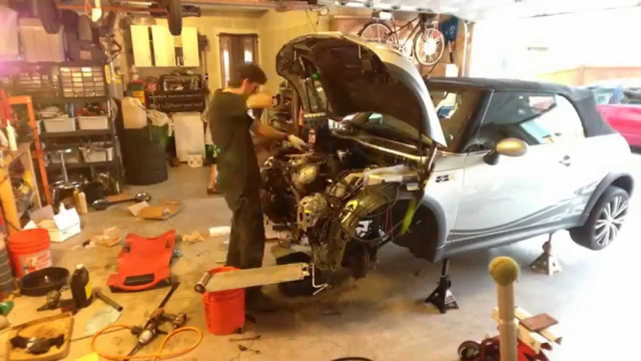 time lapse clutch replacement mini cooper s 2005 convertible r52 youtube [ 1280 x 720 Pixel ]
