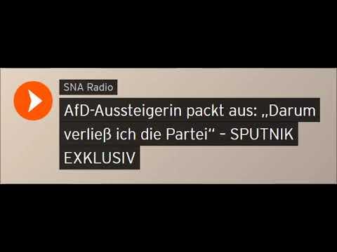 """AfD-Aussteigerin packt aus: """"Darum verließ ich die Partei"""" (Sputniknews)"""