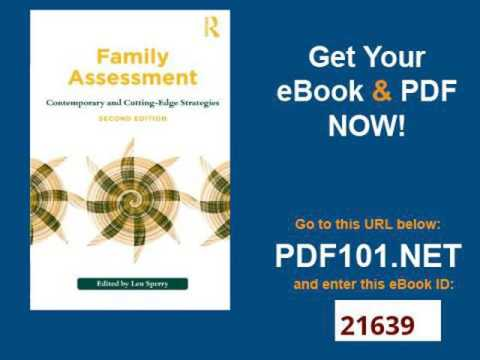Family Assessment: Contemporary and Cutting-Edge Strategies (Family Therapy and Counseling)