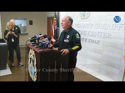 Flagler County Sheriff Rick Staly talks about Palm Coast man accused of  stabbing, killing mother