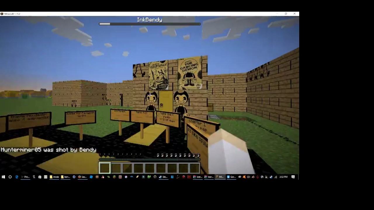 minecraft bendy and the ink machine map