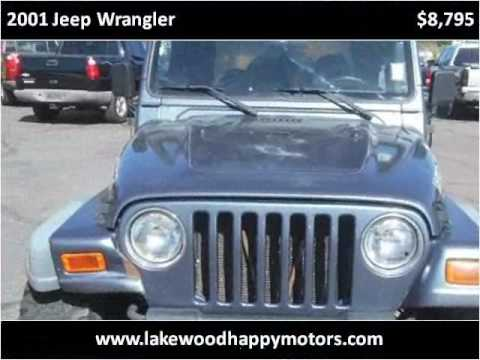 2001 jeep wrangler used cars lakewood co youtube for Happy motors inc lakewood co