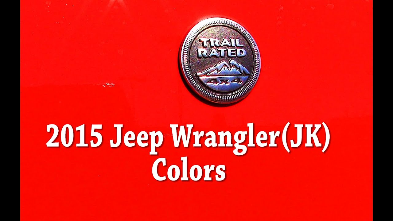 Jeep wrangler colors and paint codes also youtube rh