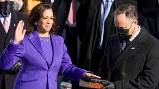 Kamala Harris becomes the first woman to be sworn in as Vice President of the United States