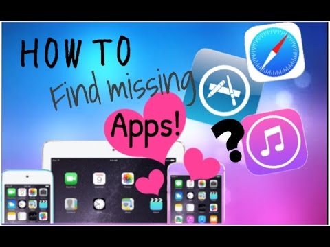 HOW TO GET MISSING APPS!!! | IOS IPHONE, IPAD, IPOD -App store, camera, Safari | Funpinkfunny