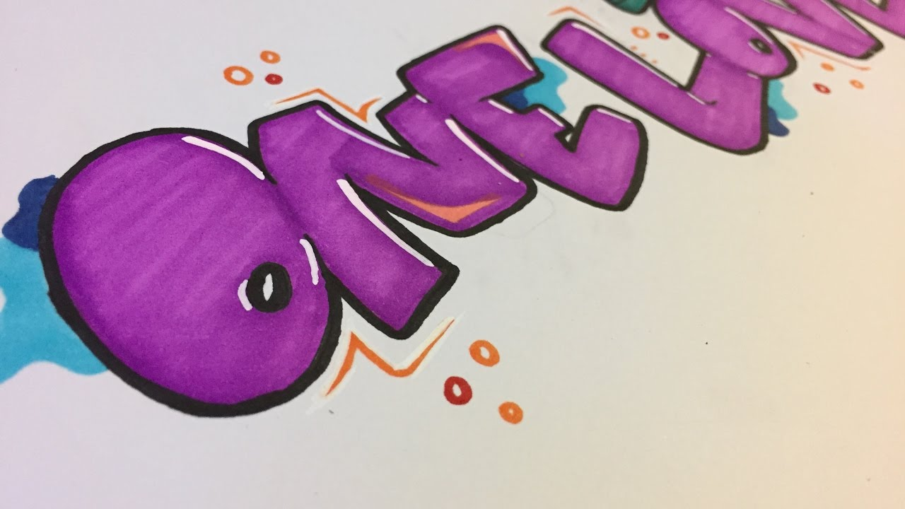Simple Graffiti Style For Beginners One Love Youtube
