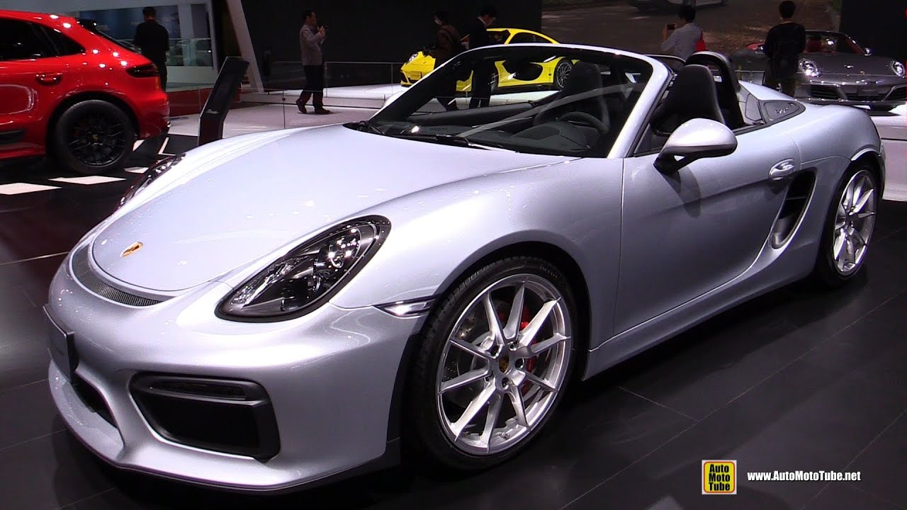2016 porsche boxster spyder exterior and interior walkaround 2015 tokyo motor show youtube - Porsche 918 Exterior