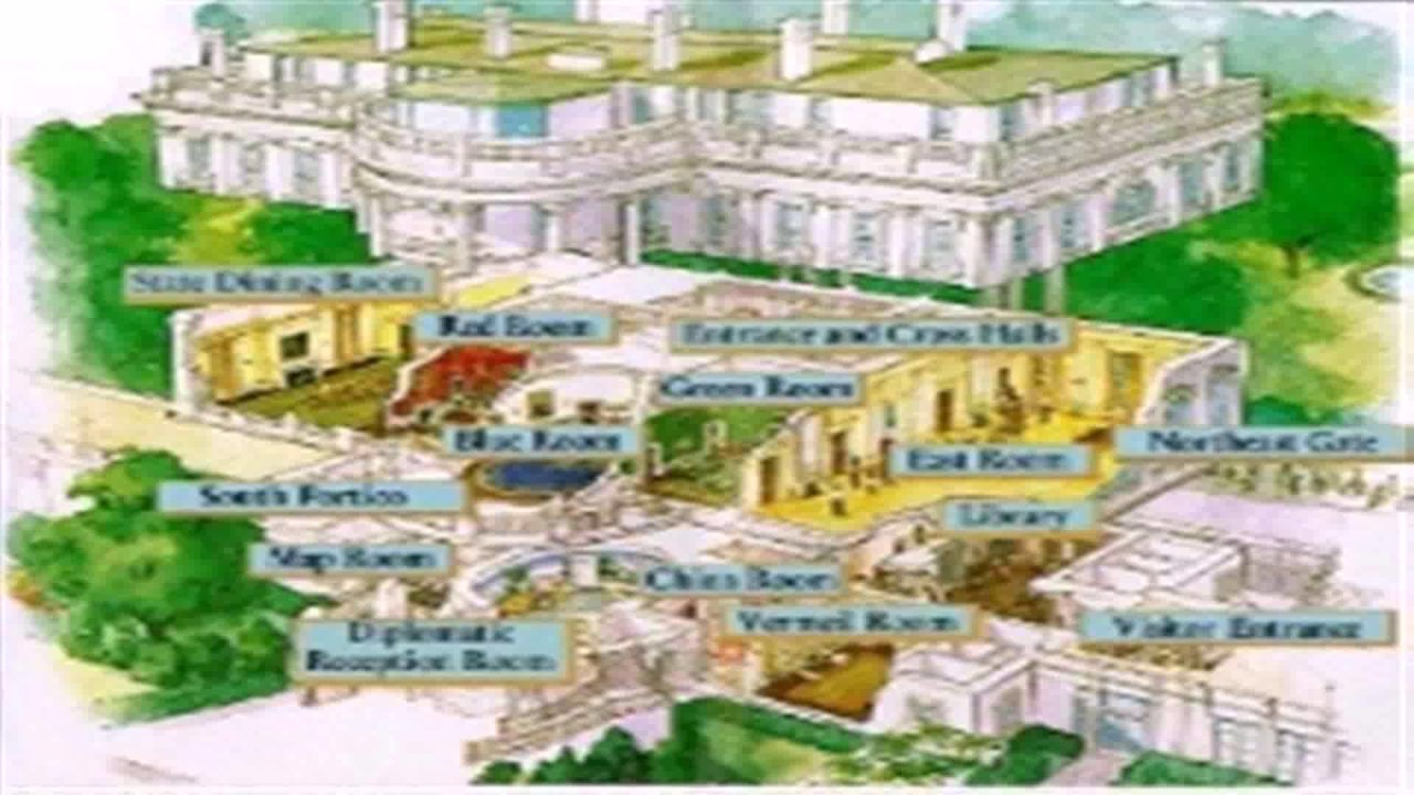 Floor Plan White House Blueprint - YouTube