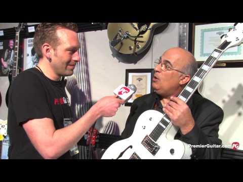 NAMM '13 - Gretsch Guitars Billy Duffy White Falcon & 6139 Falcon Center-Block Double Cutaway Demos