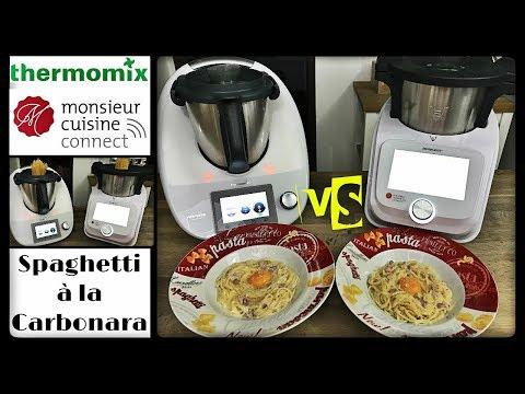 DUEL DE RECETTES : SPAGHETTI A LA CARBONARA (Monsieur cuisine connect VS Thermomix Sand Cook&Look)